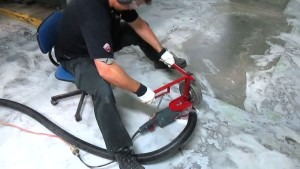 Situp Grinder for garage floors
