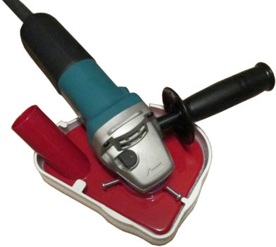 5in-shroud-on-Makita-grinder-top-view-no-cover-strip