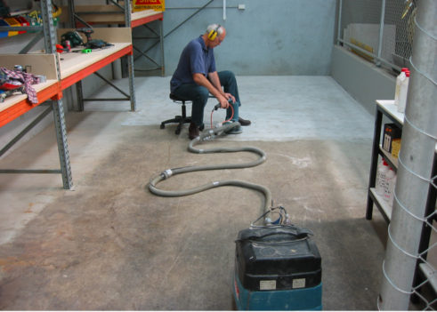 handgrind concrete floors