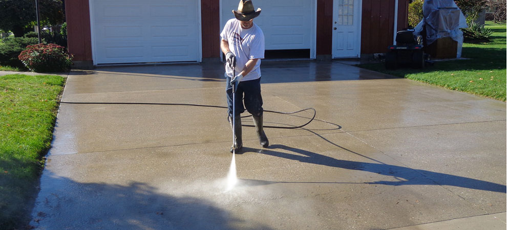 how to clean concrete for sealing